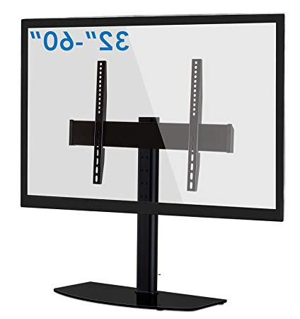 Mount It! Universal Tabletop Tv Stand Base With Height Adjustable Within Most Current Tabletop Tv Stands (View 12 of 20)