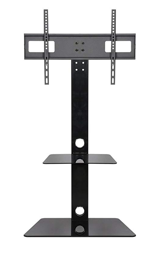 Mountright Ck001 Cantilever Tv Stand With Fixed Bracket In Black For Famous Tv Stand Cantilever (Gallery 4 of 20)