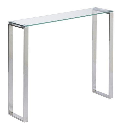 Narrow Glass Console Table – Ideas On Foter Pertaining To Most Popular Era Glass Console Tables (Gallery 14 of 20)