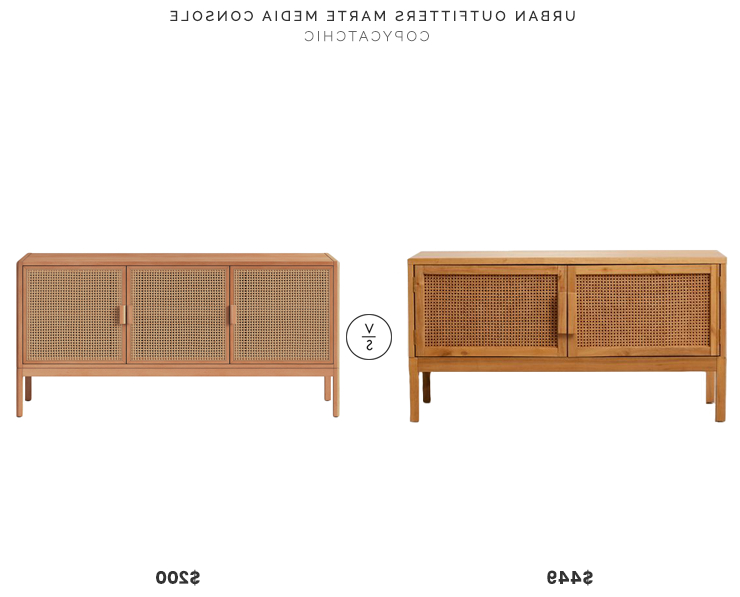 Natural Cane Media Console Tables Intended For Preferred Urban Outfitters Marte Media Console $449 Vs (View 12 of 20)