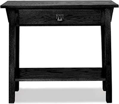 Natural Wood Mirrored Media Console Tables Intended For Most Recent Amazon: Leick Mission Hall Console Table, Russet: Kitchen & Dining (View 11 of 20)