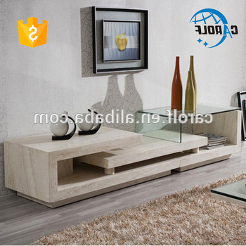 New Design Luxury Marble Base Glass Top Tv Stand – Buy Italian For Most Recent Modern Glass Tv Stands (Gallery 6 of 20)
