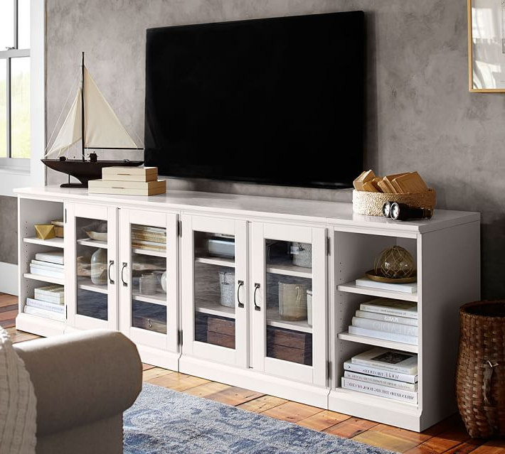 Newest 7 White Tv Stands For Your Living Room – Cute Furniture Pertaining To Long Tv Stands Furniture (View 16 of 20)