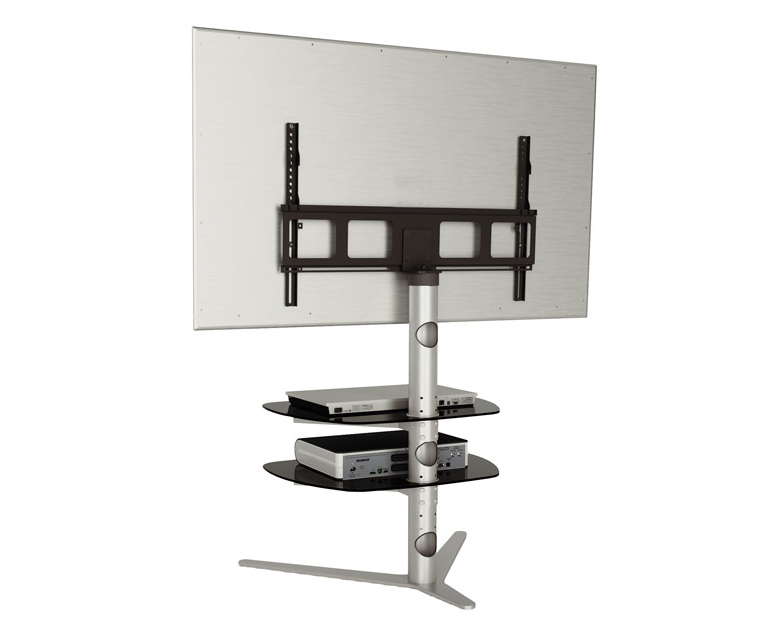 Newest Alphason Radius Rad720 Silver Tv Stand W/ Tv Bracket – Alphason Inside Bracketed Tv Stands (View 13 of 20)