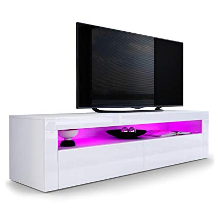 Newest Amazon: Domovero Helios 157 Contemporary Tv Cabinets Modern Tv Pertaining To Contemporary Tv Cabinets (Gallery 19 of 20)