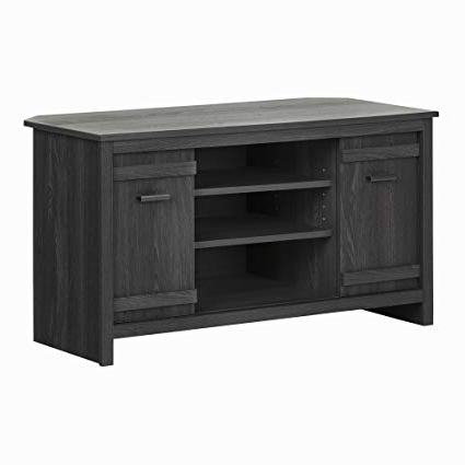 Newest Amazon: South Shore Exhibit Corner Tv Stand, For Tvsup To 42 Throughout Grey Corner Tv Stands (View 13 of 20)