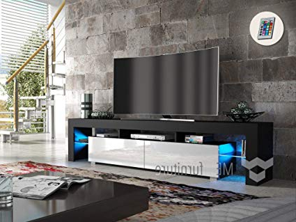 Newest Amazon: Tv Stand New York 200 / Contemporary Tv Cabinet With With Regard To Contemporary Tv Cabinets For Flat Screens (Gallery 12 of 20)