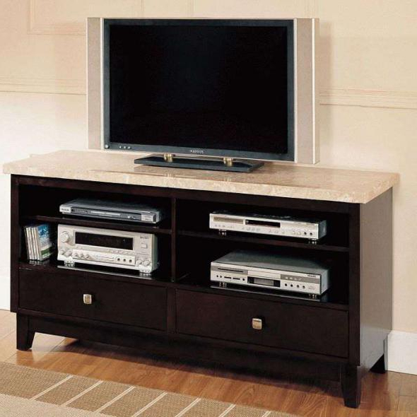 Newest Buy Britney White Oval Marble Top Walnut Tv Stand In Los Angeles Regarding Oval White Tv Stands (Gallery 7 of 20)