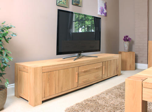 Newest Buy Large Solid Oak Tv Units & Cabinets At Furniture Octopus Throughout Wide Oak Tv Units (View 11 of 20)