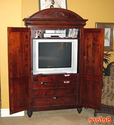 Newest Cherry Tv Armoire In Armoires ~ Cherry Tv Armoire Bunch Ideas Of How To Retrofit Or (Gallery 6 of 20)
