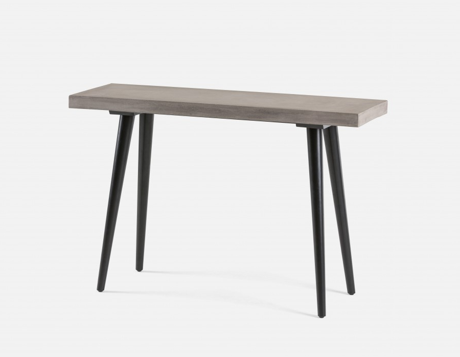 Newest Concrete Top Console Table Stunning Parsons Dark Steel Base 48X16 Regarding Parsons Black Marble Top & Dark Steel Base 48X16 Console Tables (View 15 of 20)