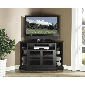 Newest Corner Tv Cabinets Within Corner Tv Stands: Top 10 Best Rated Corner Tv Cabinets 2017 (Gallery 8 of 20)