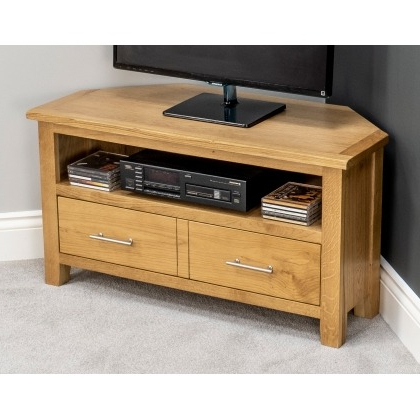 Newest Corner Tv Stands In Cornwall & Devon At Furniture World – Furniture Within Corner Tv Stands With Drawers (Gallery 18 of 20)