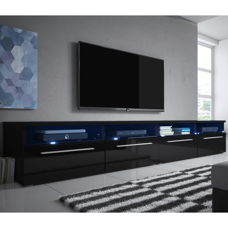 "Newest Double Tv Stands Within Selsey Living Siena Double Tv Stand For Tvs Up To 70"" & Reviews (Gallery 13 of 20)"