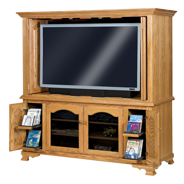 Newest Enclosed Tv Cabinets With Doors Within Hoosier Heritage Enclosed Tv Cabinet – Rockwood Furniture Co. (Gallery 13 of 20)