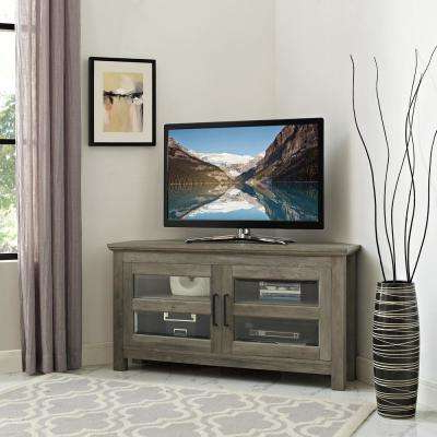 Newest Grey Wood Tv Stands Within Gray – Tv Stands – Living Room Furniture – The Home Depot (View 16 of 20)