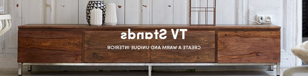 Newest Hard Wood Tv Stands Regarding Solid Wood Tv Stands – Oak, Teak, Mahogany Tv Stands – Tikamoon (View 14 of 20)