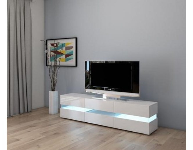 Newest High Gloss White Tv Cabinets Intended For Westwood High Gloss Led Tv Cabinet Tvc07 White (Gallery 5 of 20)