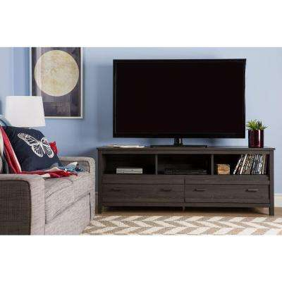 Newest Kenzie 72 Inch Open Display Tv Stands In Gray – Tv Stands – Living Room Furniture – The Home Depot (View 15 of 20)