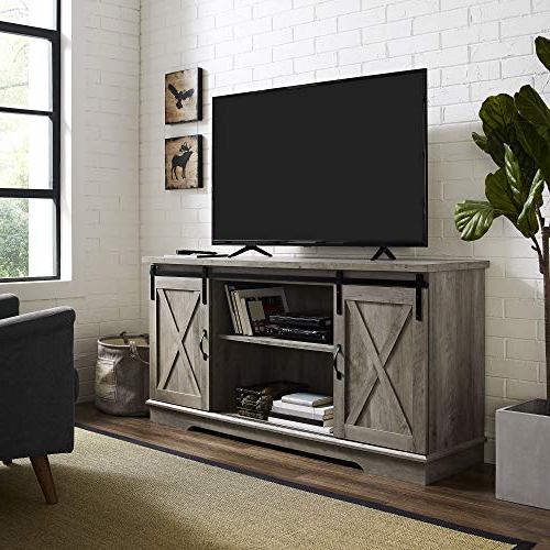 Newest Kilian Grey 60 Inch Tv Stands Regarding Farmhouse Tv Stands: Amazon (View 17 of 20)