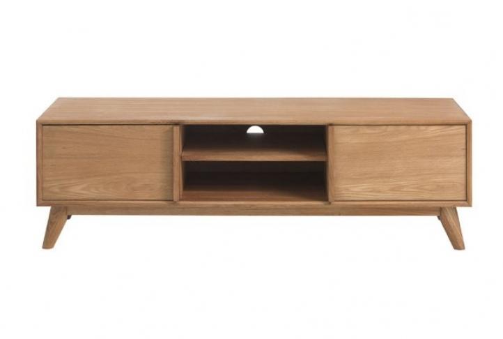 Newest Lund 2 Door, 150Cm Lowrise Oak Tv Unit (Gallery 7 of 20)