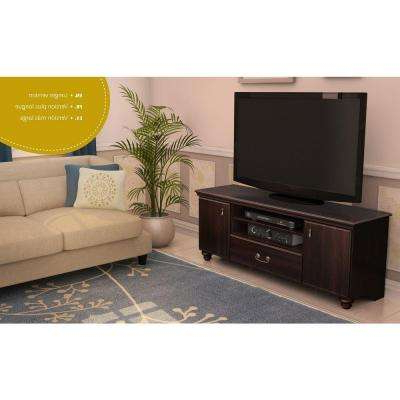 Newest Mahogany Tv Stands Within Dark Mahogany – Tv Stands – Living Room Furniture – The Home Depot (View 16 of 20)