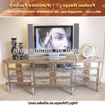 Newest Mirror Tv Showcase Designs,ivory Antique Tv Cabinet With Showcase Throughout Mirrored Tv Cabinets Furniture (Gallery 17 of 20)