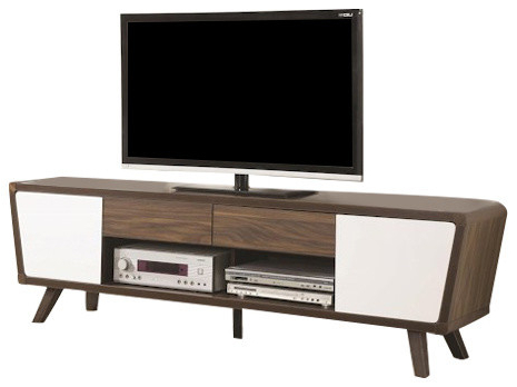 Newest Modern Tv Entertainment Centers With Regard To 2 Tone Midcentury Modern Tv Console – Midcentury – Entertainment (Gallery 13 of 20)