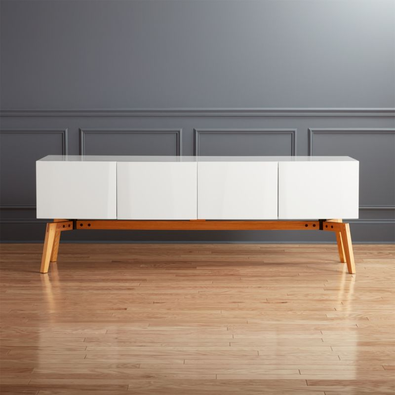 Newest Modern White Lacquer Tv Stands Inside Modern Tv Stands & Media Consoles (View 17 of 20)