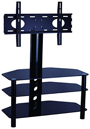 Newest Mountright Cantilever Glass Tv Stand For Up To 50 Inch Led, Lcd Throughout Cantilever Glass Tv Stands (Gallery 9 of 20)
