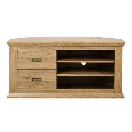 Newest Oak Effect Corner Tv Stand Inside Crafted With An Oak Effect Finish And Storage Drawers And Shelves (View 14 of 20)