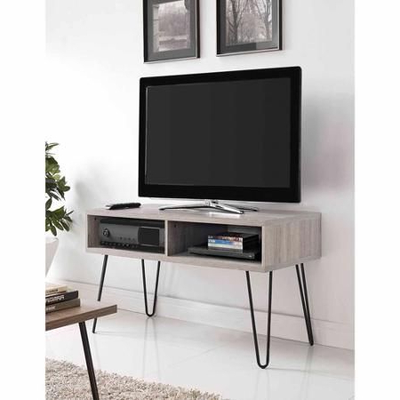 "Newest Owen Retro Tv Stand For Tvs Up To 42"", Sonoma Oak – Walmart Pertaining To Small Tv Stands (View 11 of 20)"