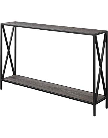 Newest Parsons Walnut Top & Dark Steel Base 48x16 Console Tables For Sofa & Console Tables (View 20 of 20)