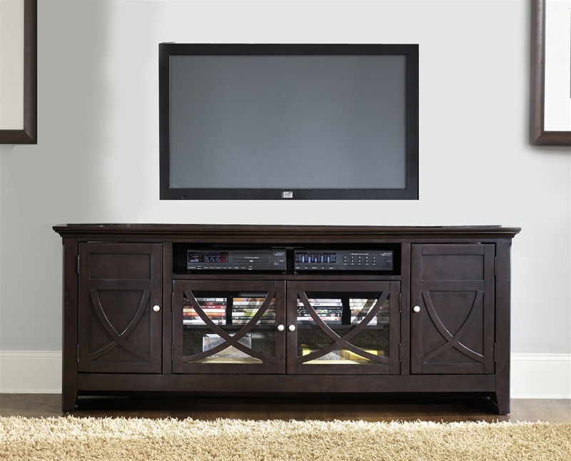 Newest Piedmont 75 Inch Tv Stand In Dark Mocha Finishliberty Furniture With Regard To Dark Tv Stands (Gallery 2 of 20)