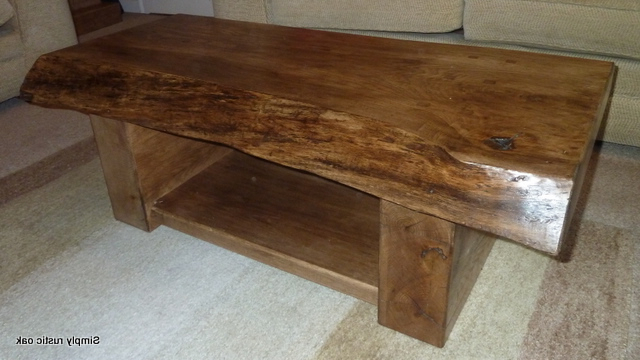 Newest Rustic Oak Waney Edge Coffee Table 3 – Simply Rustic Oak Intended For Rustic Oak Tv Stands (View 17 of 20)