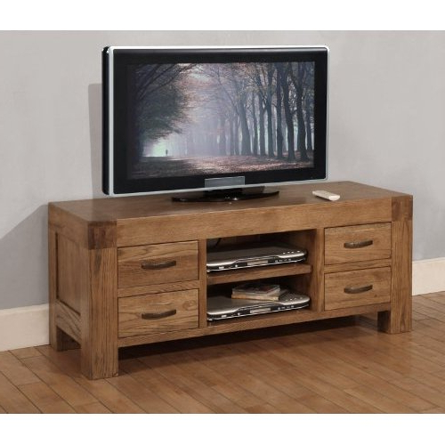 Newest Santana Oak Tv Furniture In Santana Rustic Oak Tv Cabinet (Gallery 8 of 20)