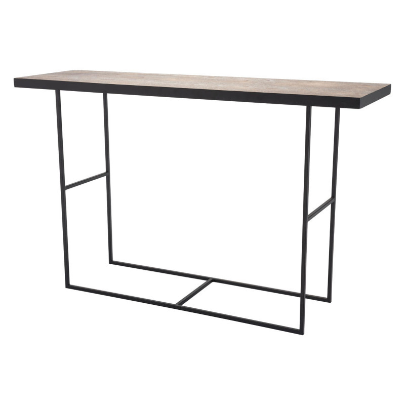 Newest Scattered Geo Console Tables Inside A10725 – Forest Console Table Black (View 12 of 20)