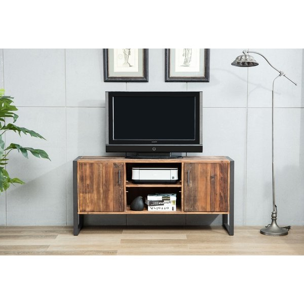 Newest Shop Crawford & Burke Ruffalo Wood/ Metal Tv Stand – Ships To Canada With Regard To Wood And Metal Tv Stands (View 20 of 20)