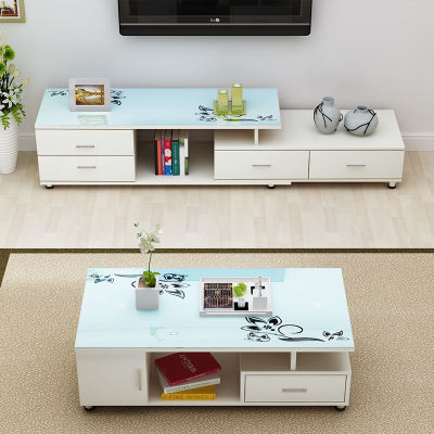 Newest Snow Yan Simple Modern Tempered Glass Tv Cabinet Coffee Table Throughout Tv Cabinet And Coffee Table Sets (View 15 of 20)