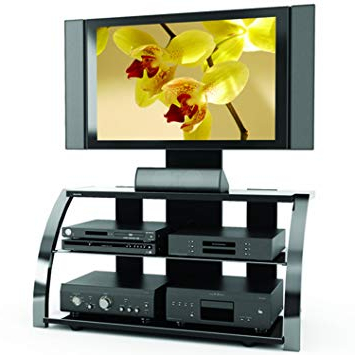 Newest Sonax Ml 1454 Milan 3 In 1 Gun Metal Tv Stand: Amazon.ca: Home & Kitchen With Sonax Tv Stands (Gallery 2 of 20)