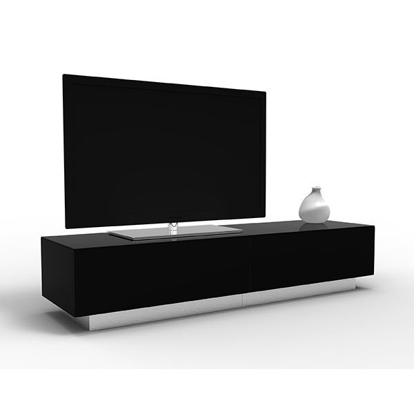 Newest Tall Black Tv Cabinets Regarding Black Tv Stands Uk – Tv Cabinets And Furniture (View 15 of 20)