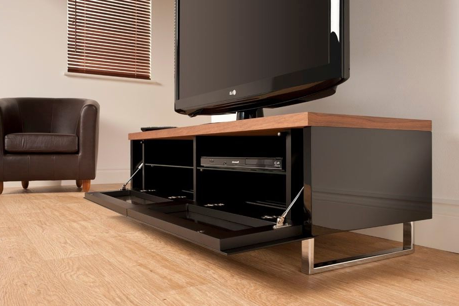 Newest Techlink Panorama Walnut Tv Stands For 130 Off!!! Techlink Panorama Pm120 Walnut Tv Stand. In Mint (Gallery 11 of 20)