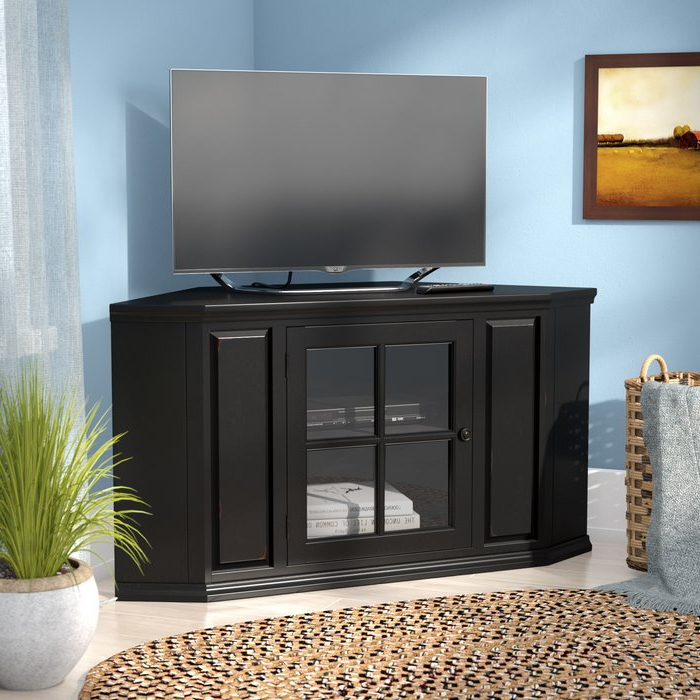 "Newest Three Posts Benson Corner Tv Stand For Tvs Up To 43"" & Reviews Intended For Wayfair Corner Tv Stands (Gallery 15 of 20)"