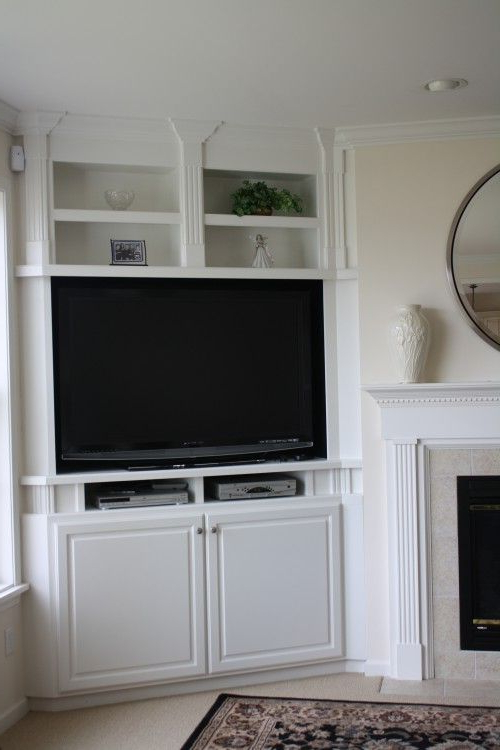 Newest Tv Cabinets Corner Units With Regard To Awkward Corner Between A Fireplace And An Exterior Wall? Corner (Gallery 9 of 20)