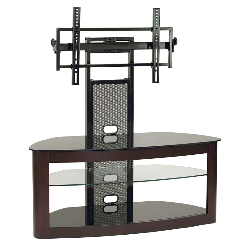 Newest Tv Stands For 43 Inch Tv Within Transdeco Glass Tv Stand With Mounting System For 35 65 Inch Screens (View 12 of 20)