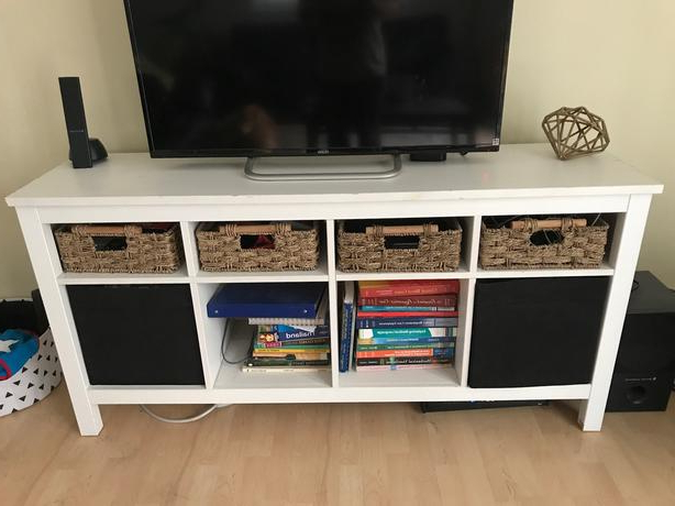 Newest White Ikea Tv Stand With Baskets Victoria City, Victoria Intended For Tv Stands With Baskets (Gallery 16 of 20)