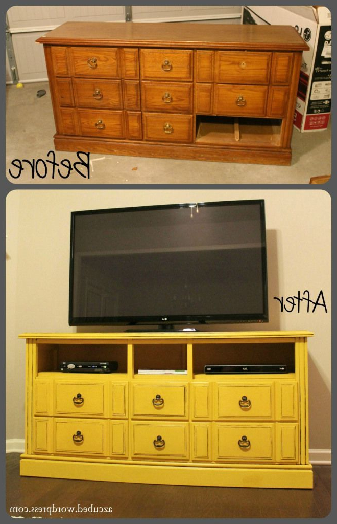 Newest White Painted Tv Cabinets Throughout Turn An Old Dresser Into A Fabulous Tv Stand (Gallery 17 of 20)