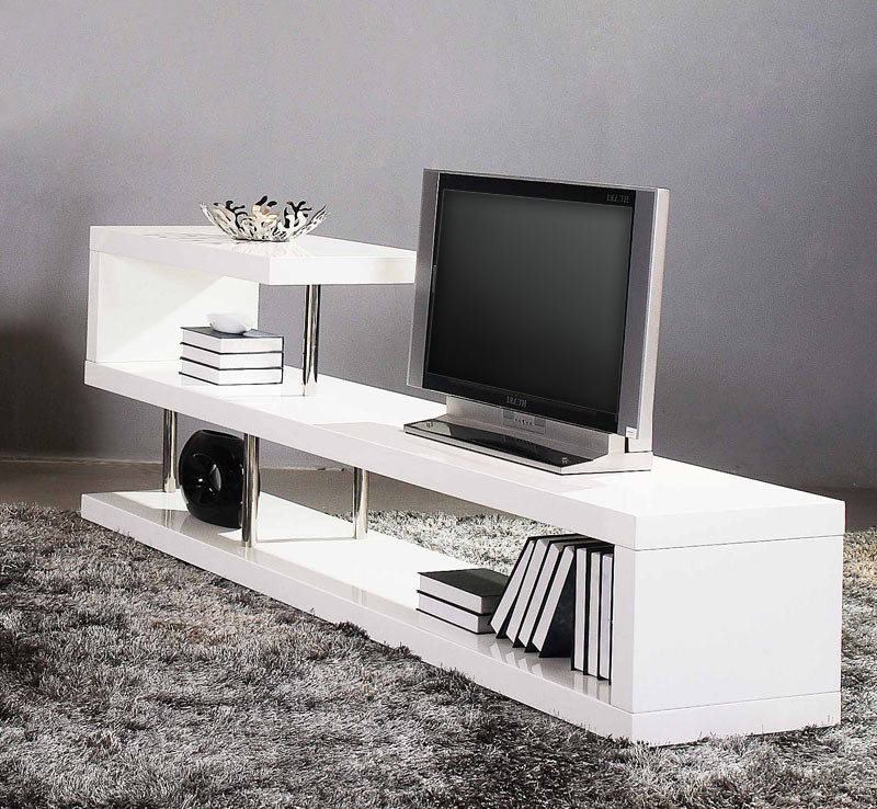 Newest Win 5 Modern White Lacquer Tv Stand For Modern White Lacquer Tv Stands (Gallery 5 of 20)