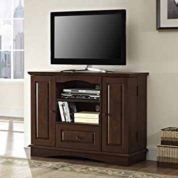 "Newest Wooden Tv Stands For Flat Screens For Amazon: Walker Edison 42"" Highboy Style Wood Tv Stand Console (Gallery 16 of 20)"