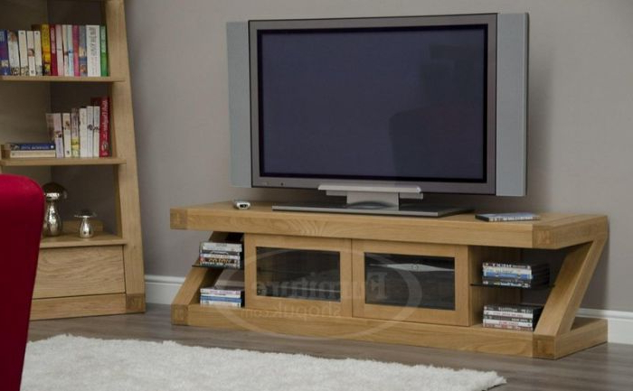 Newest Z Oak Designer Widescreen Tv Stand Designer Furniture Ltd Intended For Widescreen Tv Stands (View 13 of 20)